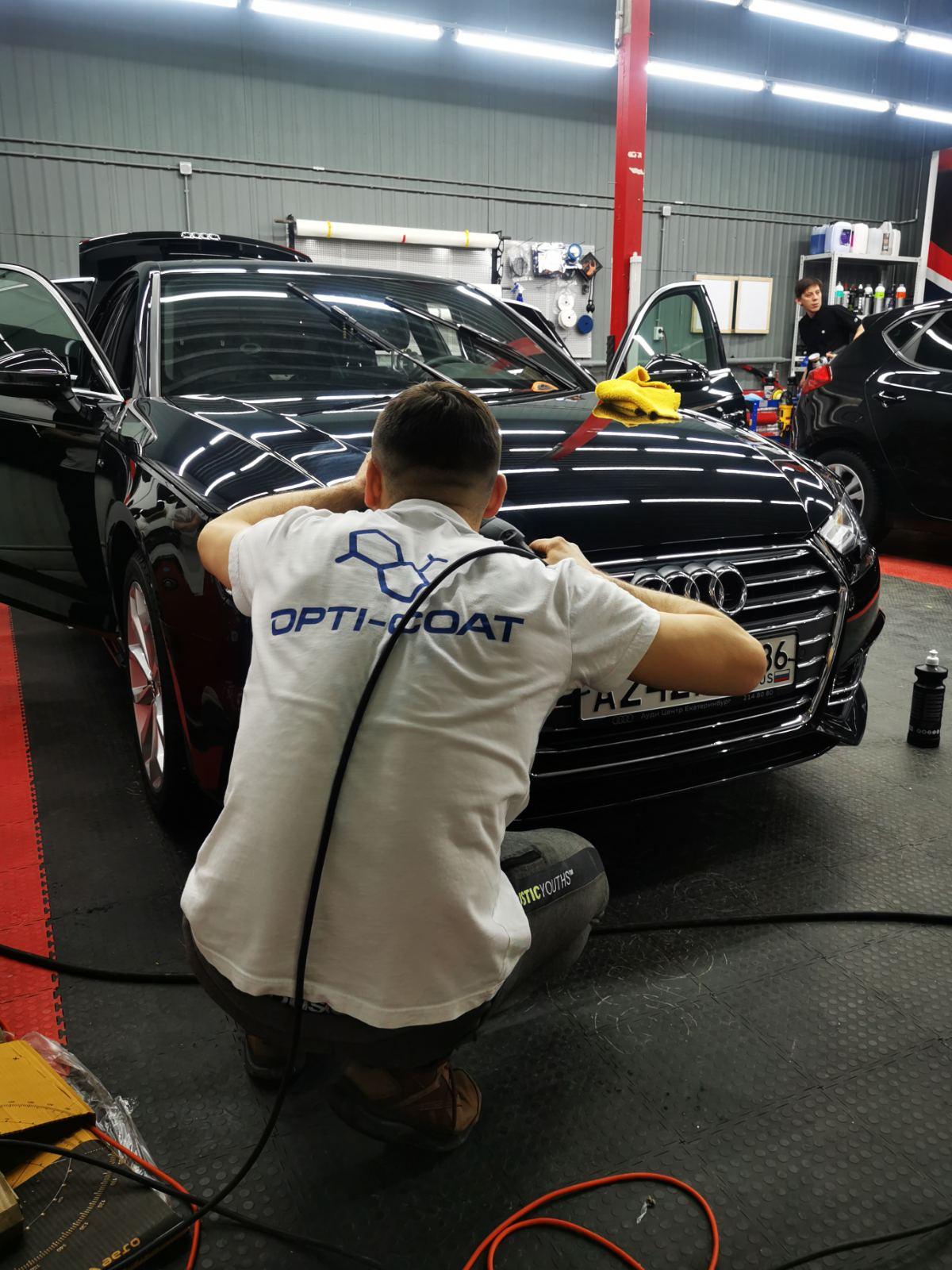 Покрытие авто керамикой OPTI-COAT