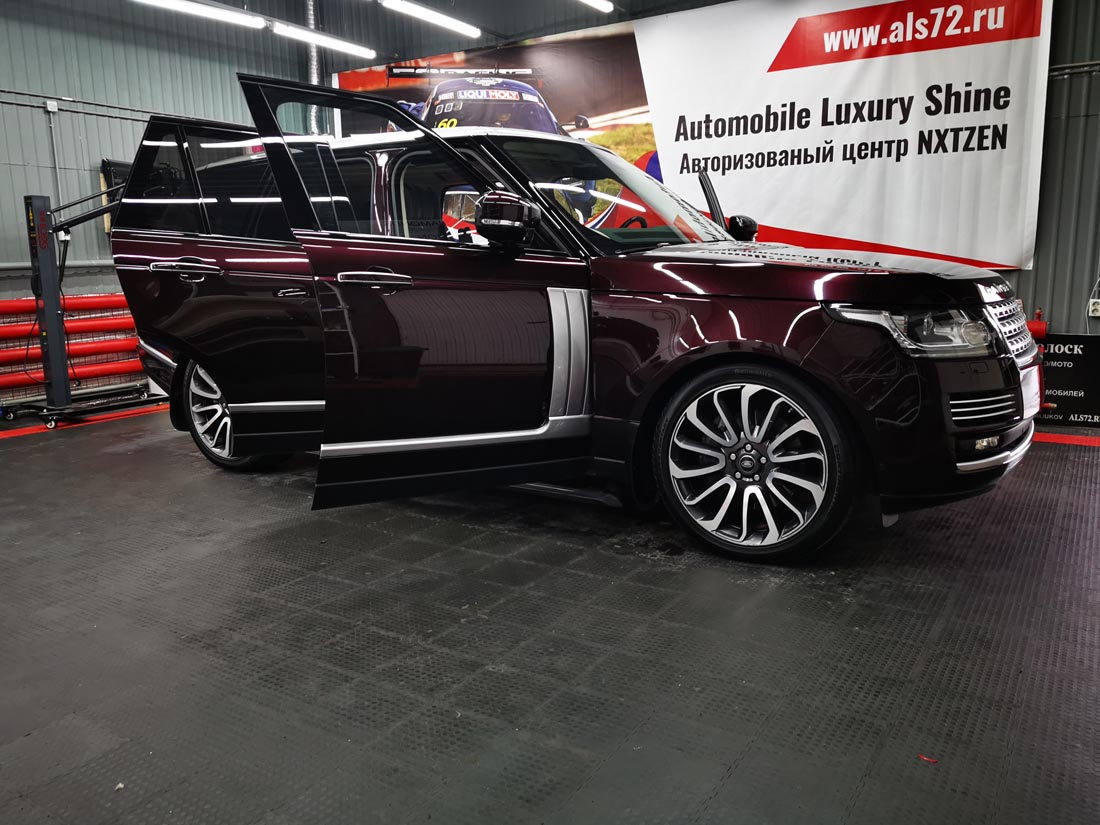 Range Rover Vogue: антигравийная пленка Spectroll ppf, USA & керамика Opti-Coat Paint Guard, USA