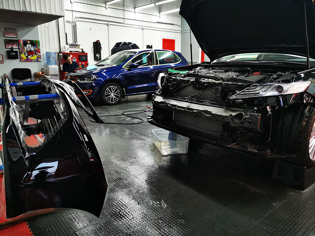 Антигравийная плёнка на новой Toyota Camry