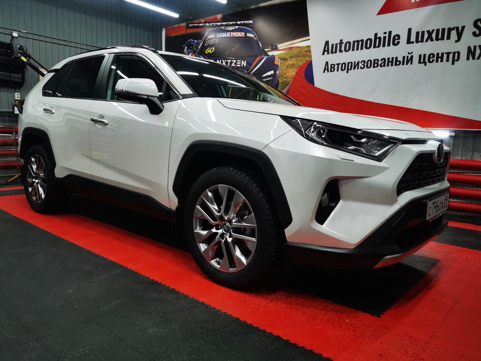 Новый Toyota RAV4 на максимальном комплексе по созданию тишины - шумоизоляции. Тюмень