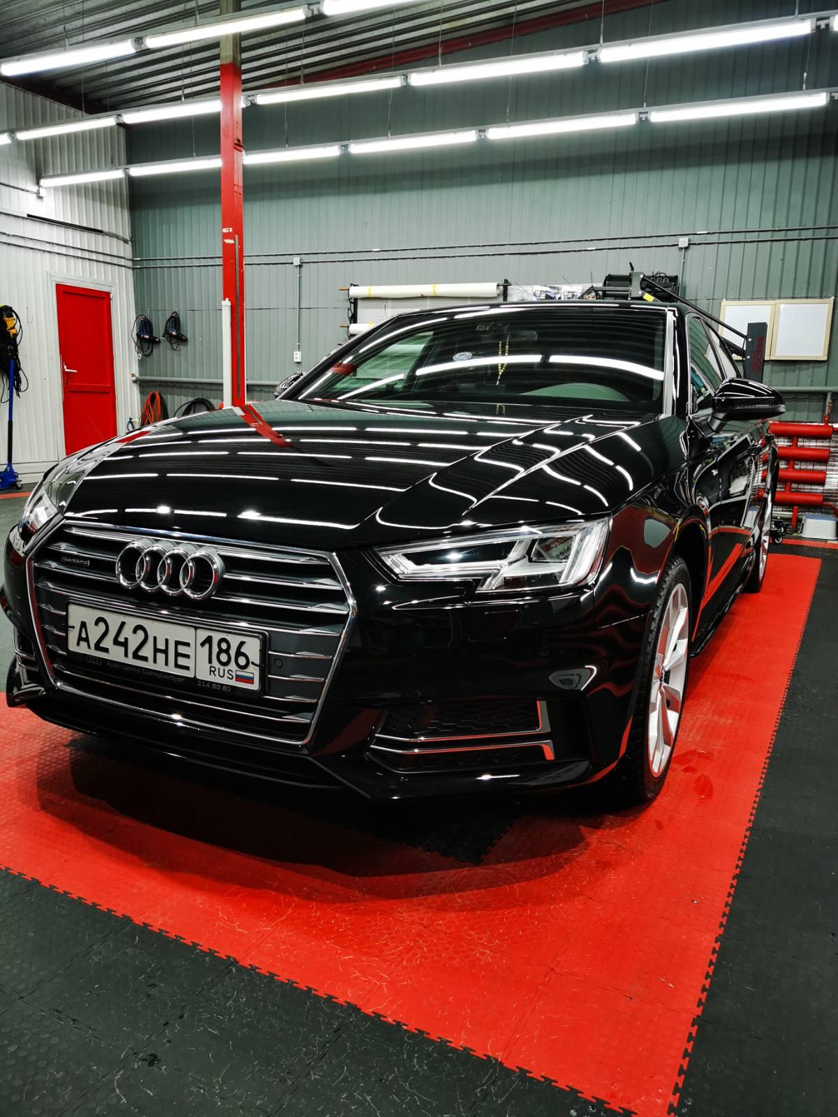 Полный комплекс Audi A4 S-LINE: Шумоизоляция Антигравийная пленка Керамика Opti-Coat. Тюмень