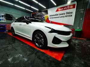 Новый Kia K5 GT - полная оклейка матовой полиуретановой пленкой+полная шумоизоляция
