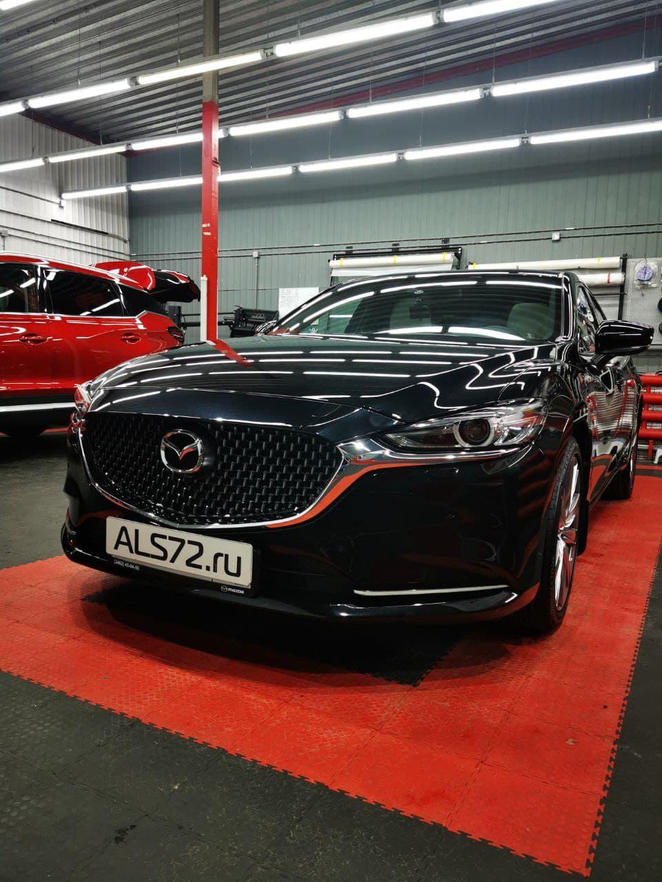 Новая Mazda-6, комплексный детейлинг: антигравийная плёнка Quantum Pro и шумоизоляция