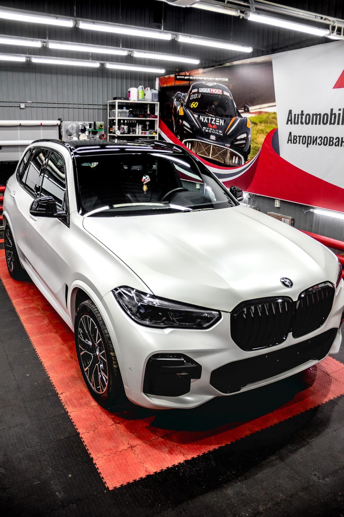 Детейлинг перламутрового BMW X5 - Тюмень