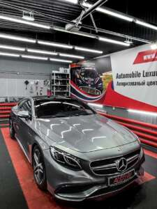 Mercedes S63 Coupe - ️абразивная чистка стекол
