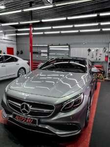 Mercedes S63 Coupe - ️Полировка декоративных элементов в салоне