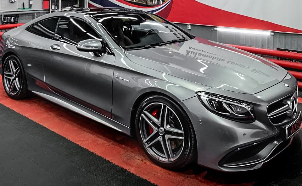 Mercedes S63 Coupe – абразивная чистка, полировка